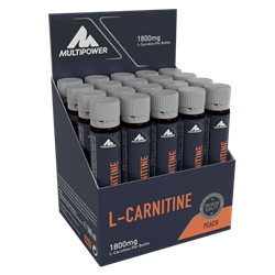 Picture of L-Carnitina Lichida 20x25ml (100% ™Carnipure) -Peach Multipower